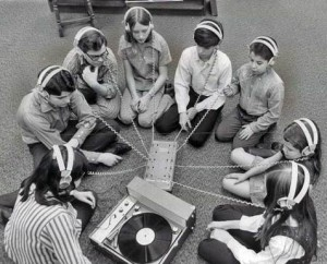 kids listening-to-records