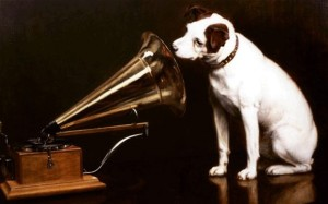 HMV nipper-the-dog classic logo