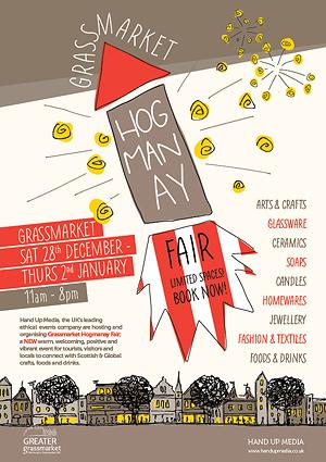 grassmarket hogmanay fair poster