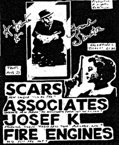 Scars Associates Josef K Fire Engines