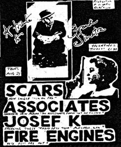 Scars Associates Josef K Fire Engines